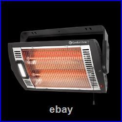 1,500-Watt Infrared Ceiling Mount Quartz Electric Portable Heater Work Garage