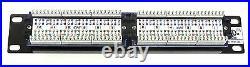 10 6U 300mm Wall Cabinet + C5e Patch Panel + PDU + Brush Bar Data Rack Network
