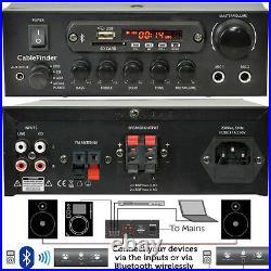 10 Speaker, 5 Zone -Background Music Kit Bluetooth Sound System- Restaurant/Shop