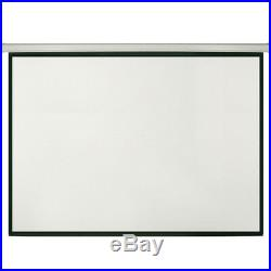 100 Manual Pull Down Projector Screen 43 -Wall/Ceiling Mount-Home Movie Cinema
