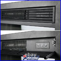 1400W 23 Wall Mounted Electric Fireplace Insert Heater Adjustable Flame Remote