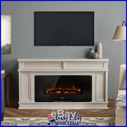 1400W Adjustable 36 Wall Mount/Standing Electric Fireplace Heater LED with Remote