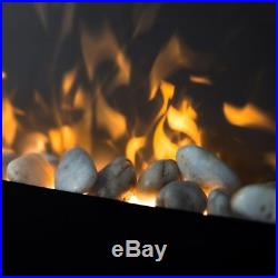 1500 WATT Electric Fire Place Wall Mounted Heater With Remote Control Fireplace