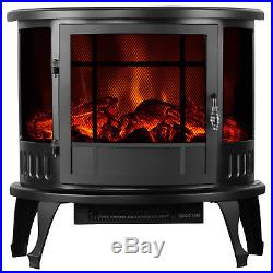 1500W Electric Fireplace Heater Stove Insert Wall Mount & Free Standing Heater