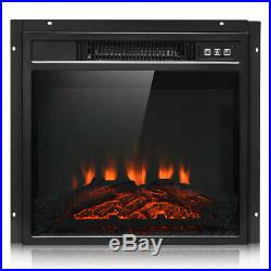 18 Electric Fireplace Freestanding &Wall-Mounted Heater Log Flame Remote 1400W