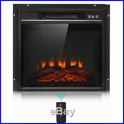 18 Electric Fireplace Freestanding & Wall Mounted Heater Log Flame Remote 1400W