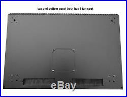 19 Inch 15U 500mm Deep Wall Mount Network Cabinet Rack, Glass Door withlock, Black
