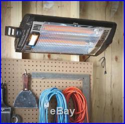 2 PACK of ELECTRIC CEILING HEATER Garage Shop Wall Mount Dual Quartz 1500 Watt