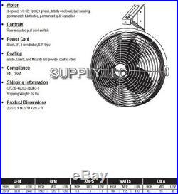 20 FAN WALL MOUNT 3-Speed Commercial Grade Air Circulator Warehouse Work Shop