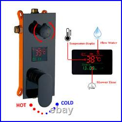 20 inch Rain Shower Faucet Set With 6 Massage Jets Body Spray Shower Mixer