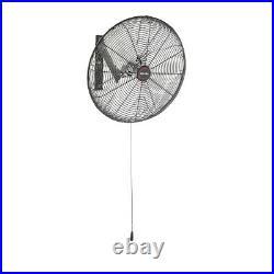 20 inch Wall Mount Fan 3-Speed Air Circulator Warehouse Work Shop Pull Cord