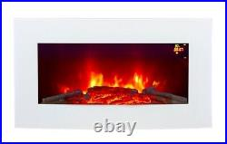 2021 Truflame 7 Colour Led White Glass Arched Electric Wall Mounted Fire