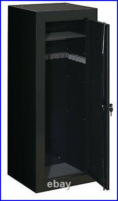 22-Gun Steel Gun Security Cabinet Locker Storage Rifle Safe Wall Floor Mount
