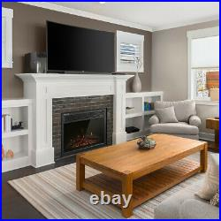 23 30 Recessed Wall Mounted Electric Fireplace Insert Heater Remote LED Flame