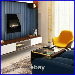 26Electric Fireplace Recessed Wall Mounted Heater Multi Color Flame Free-stand