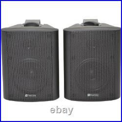 3 Zone Bluetooth Speaker Kit6x 70W Black Wall MountedHome Bar Stereo Amplifier