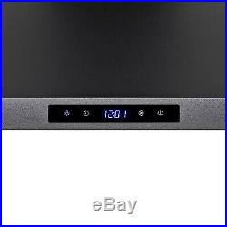 30 Black Painted Finish Stainless Steel Touch Panel Wall Mount Range Hood Timer