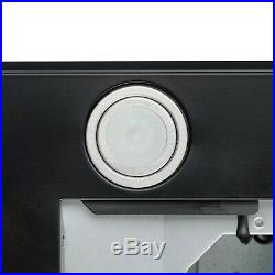 30 Black Painted Finish Stainless Steel Wall Mount Push Button Range Hood Vent