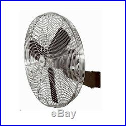 30 High Velocity Oscillating Wall Mount Fan All Metal Commercial Grade