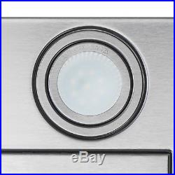 30 Wall Mount Stainless Steel Black Range Hood Touch Panel Kitchen Stove Vent
