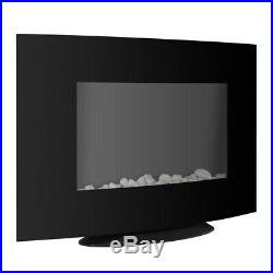 36 750W-1500W Wall Mount Electric Fireplace Heater 3D Flame with Remote Control