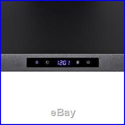 36 Black Finish Stainless Steel Wall Mount Range Hood Touch Panel Stove Vent