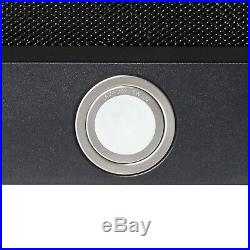 36 Black Painted Finish Stainless Steel Wall Mount Range Hood Touch Panel