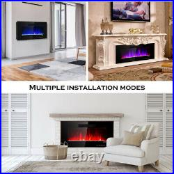36 Recessed Electric Fireplace In-wall Wall Mounted Electric Heater