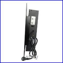 39 Heater Electric Fireplace 1500W Adjustable Wall Mount Elegant LED Backlight