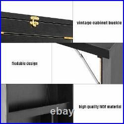 4 in 1 Floating Desk Wall Mounted Laptop Shelf Computer Bar Table Home Office US