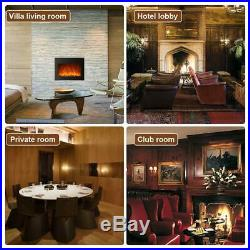 42 1350W Wall Mount Electric Fireplace Heater 3D Flame Log with Remote Control MA