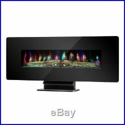 42 Large Electric Wall Mount Fireplace 3D Flame Heater with Remote Control TO