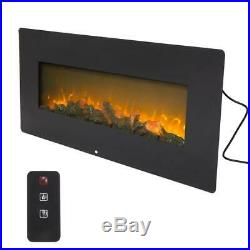 42 Wall Mounted Electric Fireplace Heater 1400W Timer Remote Control Christmas