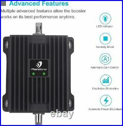 4G LTE AT&T Verizon 700MHz Cell Phone Signal 50dB Booster truck RV Improve Data