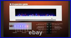 50 60 72 78 Inch Led Digital Flames White Black Inset Wall Mounted Electric Fire