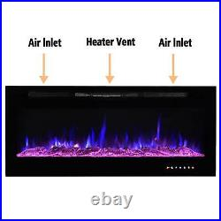 50 Electric Fireplace 50 inch Recessed Wall Mount with Remote Control Heater
