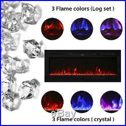 50 Electric Fireplace Recessed and Wall Mounted 750With1500W With Multicolor Flame