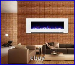 50 Inch Led Digital Flames Black White Insert Wall Mounted Electric Fire 2021