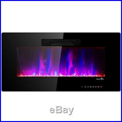50 Recessed Electric Fireplace In-wall Wall Mounted Office Electric Heater