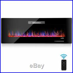 50 Recessed Electric Fireplace In-wall Wall Mounted standing Electric Heater