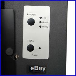 50 Wall Mount Electric Fireplace Heater Adjustable Backlight Freestanding Warm