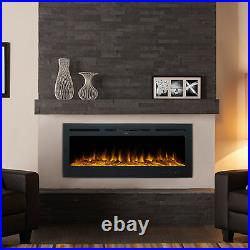 50in Electric Heater Recessed or Wall Mounted Fireplace Insert w 9 Flame Colors
