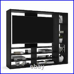 55 TV Stand Entertainment Center Wall Unit Storage Bookcase with Television Mount