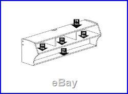 58 Black Floating Wall Mount (2 Shelf) TV Electronic Display Storage Stand
