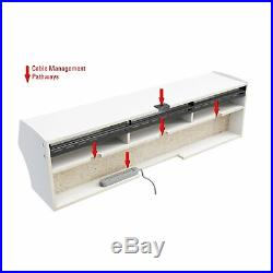 58 Floating Tv Stand Wall Mount Shelf Storage Media Center Audio Console