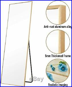 65 x 22 Full Length Floor Mirror Standing Wall-Mounted Mirror Dressing Frame