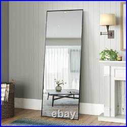 65 x 22 Oversize Modern Metal Frame Dressing Mirror Free Standing / Wall Mount