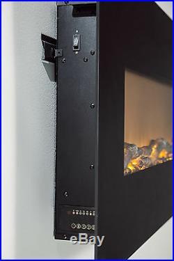 72 Black Electric Fireplace Easy Mounting Bar withHeat Touchstone 80005 OnyxXXL