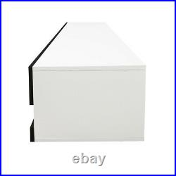 80 Floating TV Stand Wall Mounted TV Cabinet High Gloss TV Console With LED Light