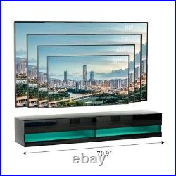 80 TV Stand Wall Mounted Floating Entertainment Center Media Console with RGB LED